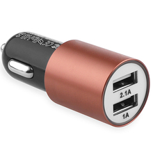 5V 3.1A Car Charger USB Adapter Aluminun 2 USB Intelligent Quick Charging for Mobile Tablet Charging for HYUNDAI BMW VW Ford KIA(China)