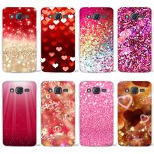 glitter red decoration Clear Case Cover Coque Shell for Samsung Galaxy J1 J2 J3 J5 J7 2016 2017 Emerge(China)