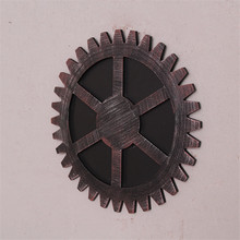 Antique Vintage Home Decor Bar/Office/Bedroom Wooden Crafts Wheel Gear Design Wall Decorations Pastoral  Style Ornaments