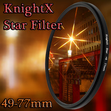 KnightX 52MM 58MM 67MM Star Filter 4 6 8 Point  Line for Canon Nikon d3200 d5200 1200d 600d 100d t5i d5500750d t5 a57 lens DSLR