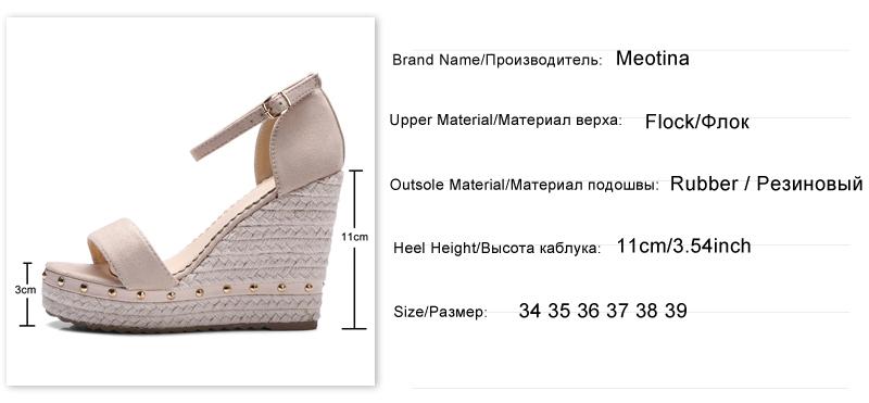 Women's Sandals, Platform Sandals, High Heels Shoes, Ankle Strap, Ladies Sandals Rivet Casual Footwear 8