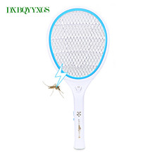Electronic portable mosquito bat Night light Bug Zapper raquete mata Fly Mosquito Killer Pest Control Powered Charging Use(China)