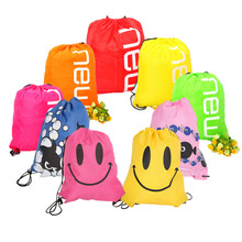 Waterproof Nylon Storage Bags Drawstring Backpack Travel Shoes Lingerie Pouch Travel Storage Bag Organizer 43 x 34cm