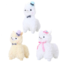 1pcs 35cm/45cm Arpakasso Alpacasso Kawaii Alpaca Plush Toys Doll With Topper Hat Bow Soft Sheep Stuffed Toys 3 Colors(China)