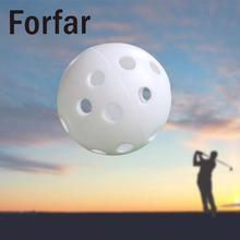 Forfar Hollow Plastic Golf Ball Indoor Outdoor Sports Trainer Swing Practicing Training