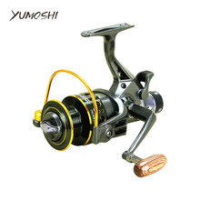 5.2:1 10+1 BB Front and Rear Drag reels 3000 4000 5000 6000 fishing reel Spinning wheel type fishing wheel Sea Rock lure fishing(China)