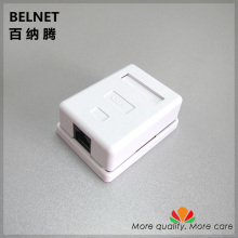 RJ45 junction box CAT5e network connector single port Desktop box 1-port extension cable JB ethernet box Not required bottom box(China)
