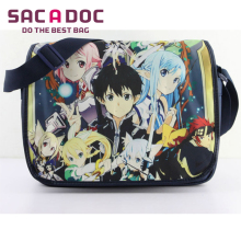 Anime Sword Art Online Kirigaya Kazuto Printing School Crossbody Bag Teens Boys Girls Shoulder Bag Students Children Book Bag(China)