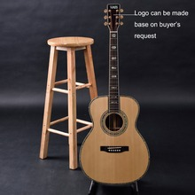 Customized acoustic guitar, OEM guitar, handmade guitar, OM size ,solid cedar top, indian rosewood back and side