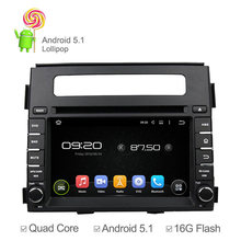16GB Nand Quad Core Android 5.1 For Kia Soul 2013 2014 Car DVD GPS Navigation Radio Cassette Player Support Mirrorlink 3G OBD