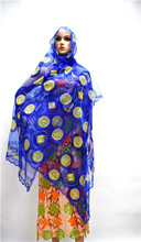 blue nigeria headtie fabric noble african scarf lace with stones net lace scarf elega for women 3piece/lot PLT-003
