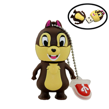 Cute usb flash drive Squirrels pendrive 32gb 16gb pendrive 8gb memoria usb stick 4gb usb2.0 memory stick Free Shipping
