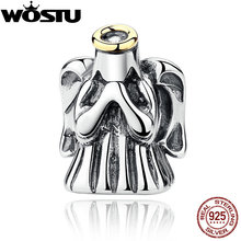 2017 Hot Sale 925 Sterling Silver Divine Angel Charm Beads Fit Original Pandora Bracelet Authentic Fine DIY Jewelry