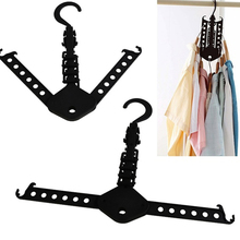 Multifunctional Hanger Rack Clothes Space Saver Foldaway Folding Magic Hangers for Clothes Outdoor Closet Organizer(China)
