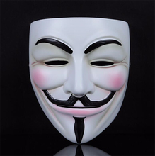 New High V for Vendetta Anonymous Film Guy Fawkes Face Mask Fancy Halloween Cosplay White Color Fancy Dress Costume Mask