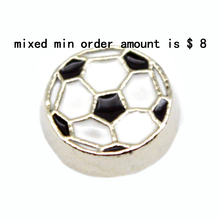 2016 Hot Sale  popular  trendy jewelry  10pcs  Football  floating charms  for living glass lockets,N-28