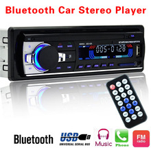 Автомагнитолы 12 В Bluetooth V2.0 JSD520 стерео в тире 1 Din FM Aux Вход приемник SD USB MP3 MMC WMA разъем ISO xnc(China)