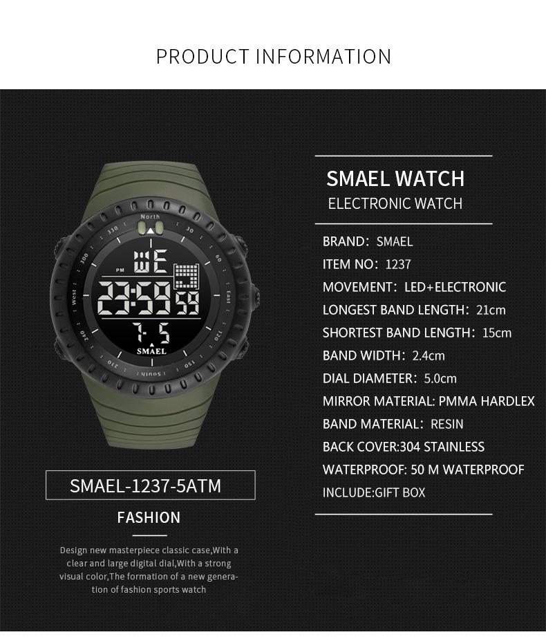 12.led watch men