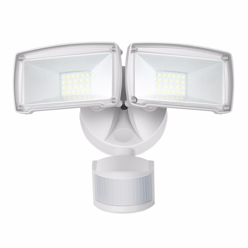 GOSUN Led Motion Sensor Flood Light Waterproof IP44 2-Head 22W 220V/120V Outdoor Security Lights 950LM 5000K Garden Floodlight <br>