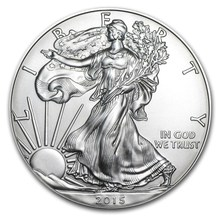 free shipping 2pcs/lot,2015 1 oz Silver American Eagle Coin,Mirror effect(China)