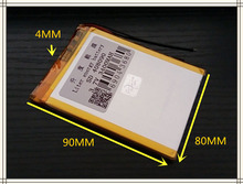 best battery brand Size 408090 3.7V 3400mah Lithium polymer Battery with Protection Board For PDA Tablet PCs Digital Products Fr