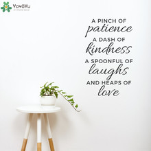 Inspirational Wall Decal Quotes Pinch of Patience Vinyl Wall Stickers Removable Home Decor Kitchen Interior Window Mural SY224
