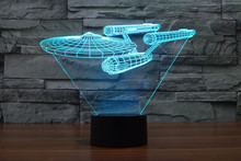 7 Colors Star Trek USS Enterprise Models Beyond Into Darkness Spock Action Figures Starfleet 3D Table Lamp Led Toys