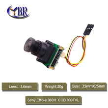 Mini Video FPV Camera 800TVL Sony Effio CCD Fpv Camera Pinhole Lens Mini CCtv Security Camera For Drone Helicopter Photography