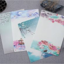8 Pages/Pack Vintage poetry illustration Season Plants Flowers Painting Letter Paper Writing Paper Love Letter Stationery(China)