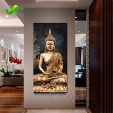 1 Panel Abstract Buddha Canvas Oil Painting Wall Picture For Living Room Cuadros Decoration Modern Printing Unframed PR1297(China)