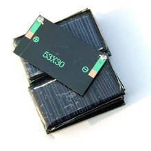 Wholesale 200PCS/Lot 0.15W 5V Mini Solar Panel Small Solar Power For 3.6V Battery Charge Solar LED Light Free shipping