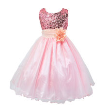 Infant Toddler Pageant Cute Princess Girls Sequins Flower Party Dress Gown Bridesmaid Prom Dresses
