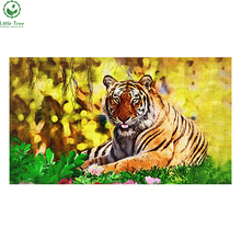2017 Fashion 3D DIY Diamond Painting Wild Tiger Creative Gift Home Decor Rhinestones In Settings Hand Embroidery Cross Stitch(China)