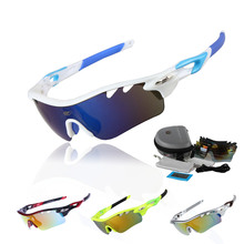 Professional Polarized Cycling Glasses Bike Goggles Fishing Outdoor Sports Sunglasses UV 400 With 5 Lens TR90 STS801 5 Color(China)