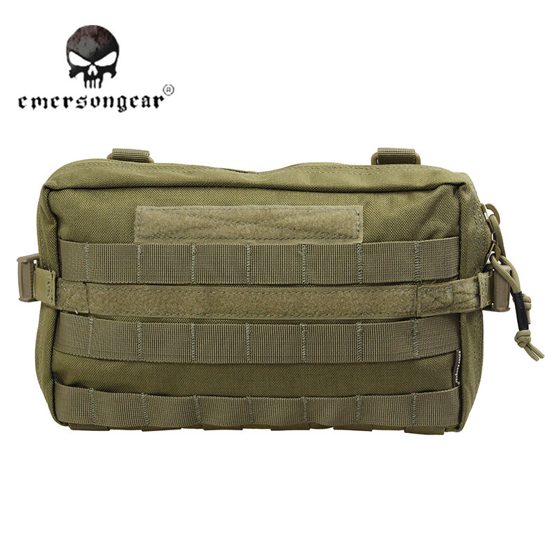 Emerson Tactical  EDC Pouch Utility Molle Outdoor Hunting Bag Hiking Camping Sports 1000D Zipper Wallet Accessories Bag EM8347A<br>