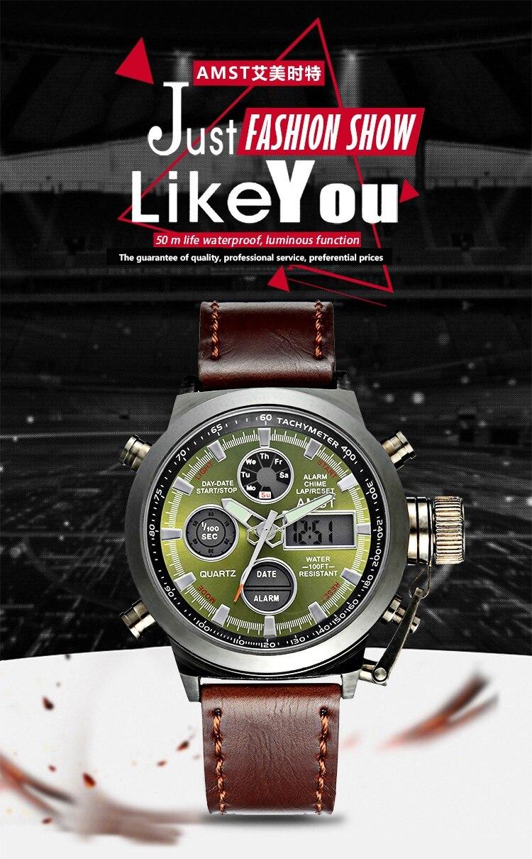 Digitale Uhren Mode Herrenuhr Amst 3003 Uhren Sport Dive 50 Mt Led Military Uhren Echte Quarz Digitaluhr Relogio Masculino Geschenke