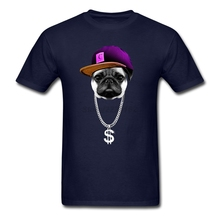 men Hip Hopper Pug Shirts Popular Spring Cheap Price Rock Shirt Greek t shirt Graphic Fit Oversize Adult Team garment(China)