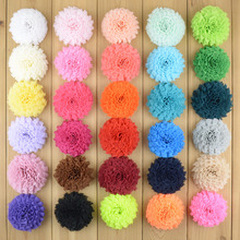 30pcs/lot 30 Color U Pick 2.76 Inch Shabby Chiffon Frayed Puff Flowers DIY Boutique Hair Accessories Wedding Bridal Bouquet TH01(China)