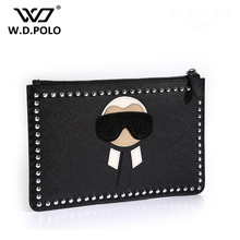 WDPOLO New monster karl women pu leather clutch high chic chic lady brand handbag design easy to take hot lady bags Z1054