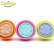Delidge  1 pcs Four Leaf Clover Soap Molds Silicone Handmade Soap Molds Crafts DIY Ice Moon Cake DIY Chocolate  Moulds