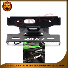 Motorcycle Fender Registration License Plate mount TailLight LED Holder Bracket For KAWASAKI ZX6R ZX-6R NINJA  free shipping