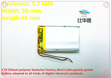 (free shipping)(2pieces/lot)523048 800mah lithium- polymer battery quality goods quality of CE FCC ROHS certification authority