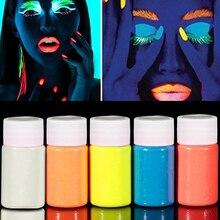 20 МЛ УФ Свечение Лицо Тело Светящиеся Краски Люминесцентные Люминесцентные Halloween Party(China)