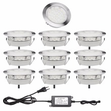 QACA LED Deck Lamp 2.5W IP67 Waterproof Recessed Inground Lights kits Garden Stairs Path Outdoor Decoration 10pcs/set B107-10(China)