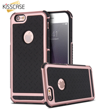 KISSCASE Soft TPU Hard Plastic Heavy Duty Armor Cover For iPhone 5 5S SE iPhone 7 6 6S Plus Slim Tough Hybrid Accessories Coque