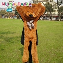 "Niuniu Daddy 140cm/55"" inch Semi-finished products teddy bear skin,Plush Bear Skin,Plush Toys 5 color can choose,Free Shipping"