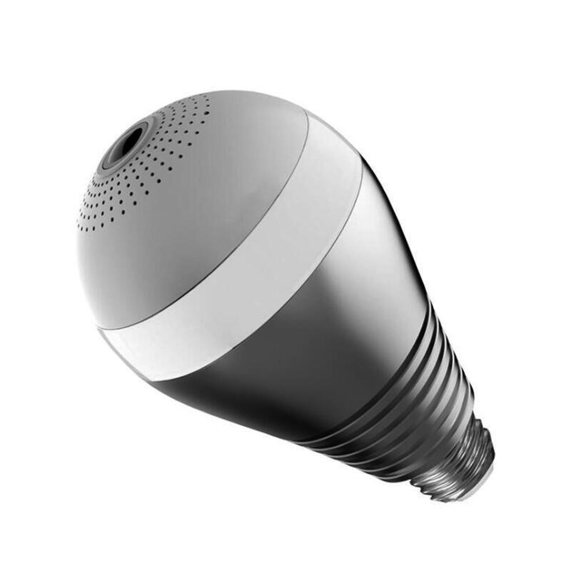 JIVISION Bulb Wireless IP Camera Lamp HD Wifi Home Security Fisheye 360 Panoramic P2P Surveillance 960P Onvif camera Kamera IP<br>