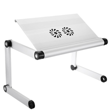 OMAX A8 Adjustable Height  Wear Resistant Anti-rust Laptop Desk Notebook Table with Cooling Fans Portable for Traveling