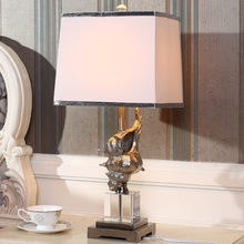 Fashion Mediterranean 62cm White Conch Table Lamp Luxury Crystal Table Lamp For Bedroom Lobby Table Lamp Abajur De Mesa Lamparas(China)