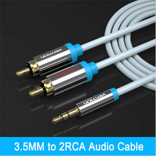 Vention rca jack cable 2 rca male to 3.5 male audio cable 1m 1.5m 2m 3m aux cable for Edifer Home Theater DVD iphone headphone